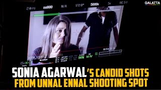 Sonia Agarwal's Candid Shots from Unnal Ennal Shooting Spot