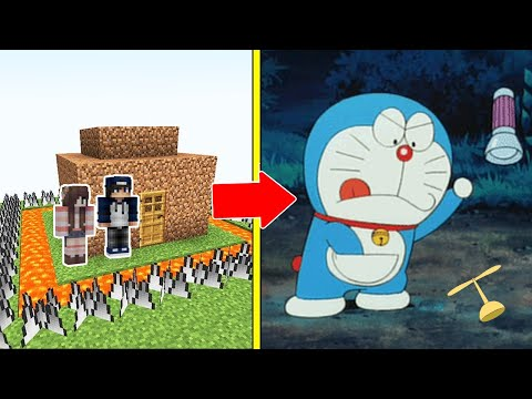 DOREAMON Tấn Công Nhà Được Bảo Vệ Bởi bqThanh và Ốc Trong Minecraft