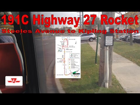 OLD: 191C Highway 27 Rocket - TTC 2015 Nova Bus LFS 8442 (Steeles Avenue to Kipling Station)