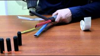 Термоусадочная трубка Woer TCT - разделка высоковольтного кабеля