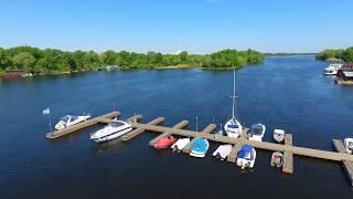 Выставка яхт и катеров IBYS 2017 с высоты птичьего полета (общий вид)