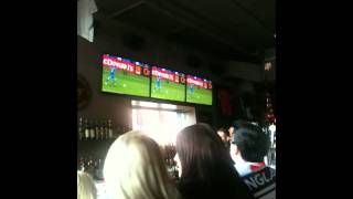 Audience reaction - Penalty shootout of England vs. Italy (London Pub, Vancouver)