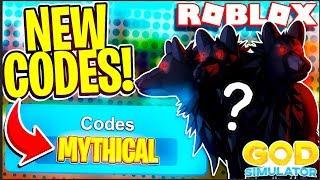 *NEW* FREE MYTHICAL PET CODES!! (Roblox God Simulator)