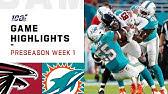 Falcons vs. Dolphins Preseason Week 1 HighlightsNFL 2019