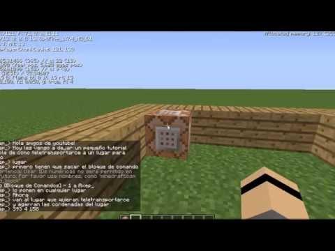 Como Teletransportarse De Un Lugar A Otro Tutorial Minecraft Youtube