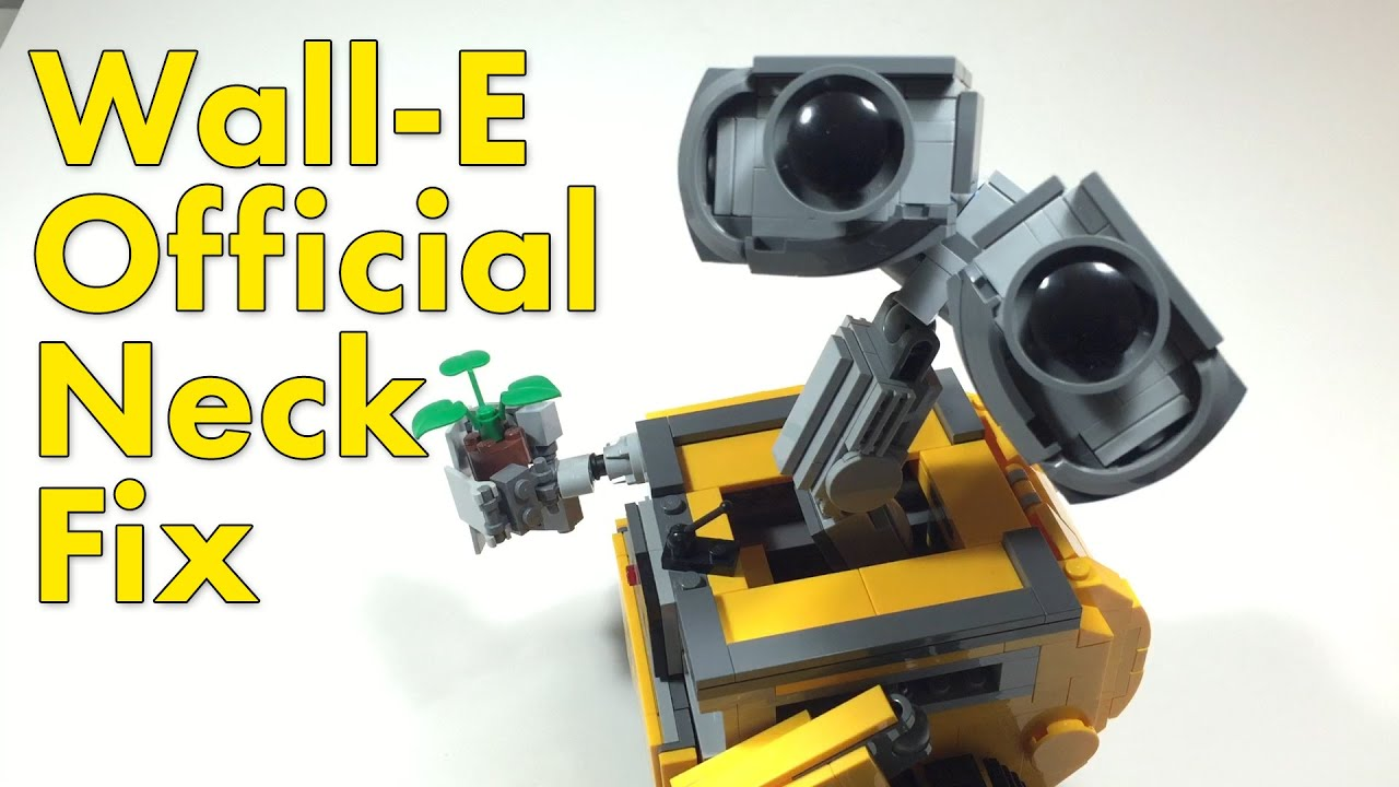 lego wall-e 21303 - official neck fix - youtube