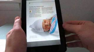 Kindle Fire: Reading books, magazines, newspapers