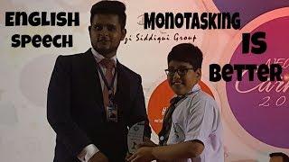 Monotasking Is Better Than Multitasking - English Speech