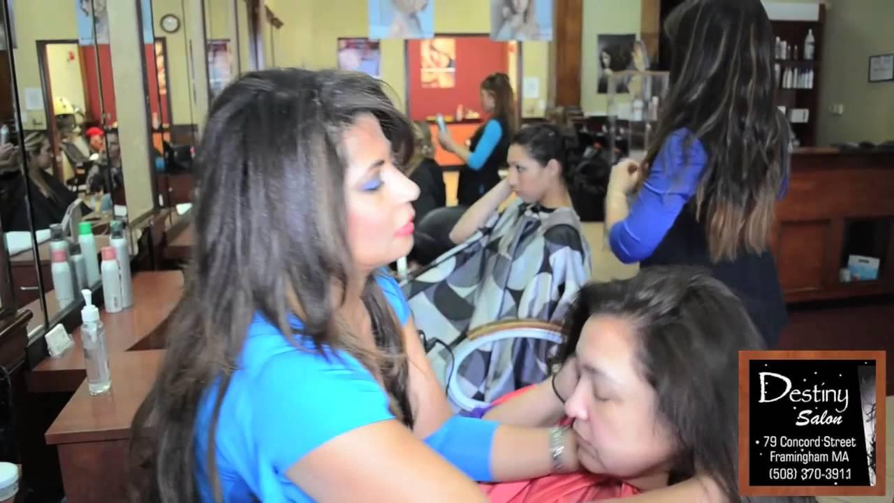 Beauty Hair Salon And Spa Destiny Salon In Framingham Ma Youtube