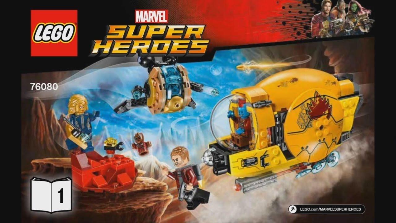 Lego Super Heroes 76080 Ayeshas Revenge Instruction Timelapse