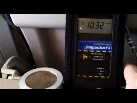 ☢ In-Flight Radiation Tests July 21,2013 ☢ California to Haw
