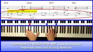 'Someone To Watch Over Me' - jazz piano tutorial