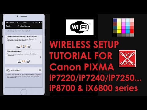 Pixma Ip7200 Wireless Setup Tutorial For Ip8700 Ix6800