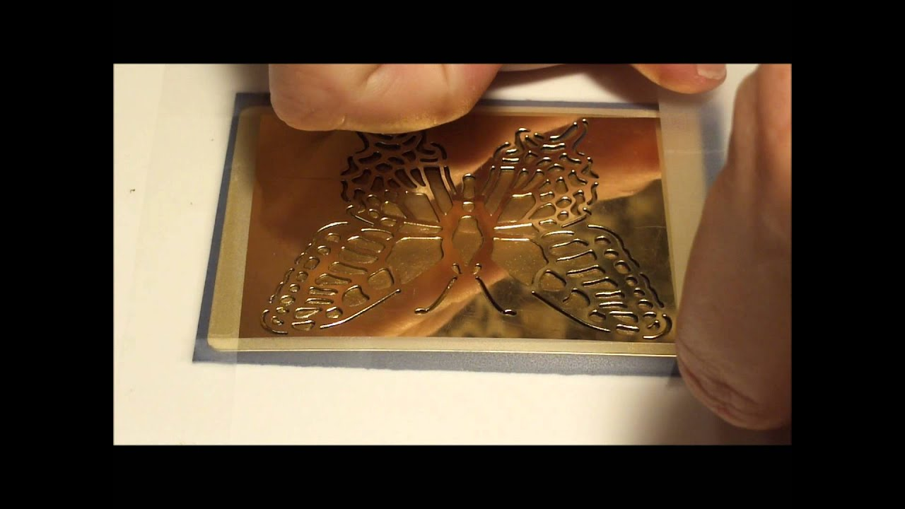 How To Use Gold Embossing Paste With Gold Leaf On Stencils