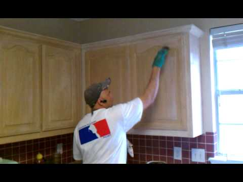 How to antique your kitchen cabinets youtube how to antique your kitchen cabinets solutioingenieria Image collections