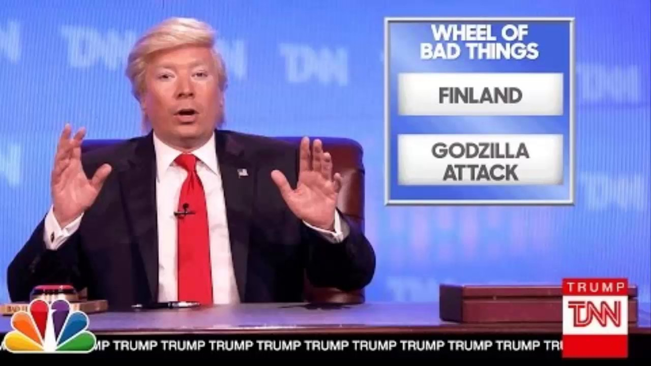 See Jimmy Fallon's Donald Trump Fight Fake News with His Very Own ...