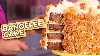 BANOFFEE MEGA CAKE | Banana & Toffee Yum!! | How To Cake It