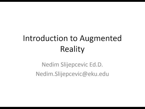 Introduction to Augmented Reality Part 1
