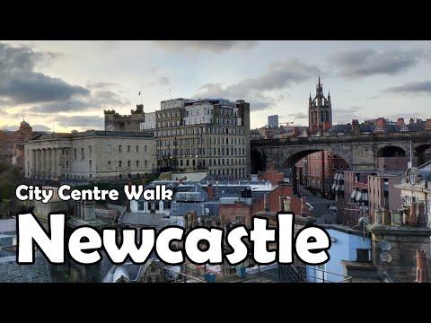 Newcastle upon Tyne City Centre Walk【4K】| Let's Walk 2021