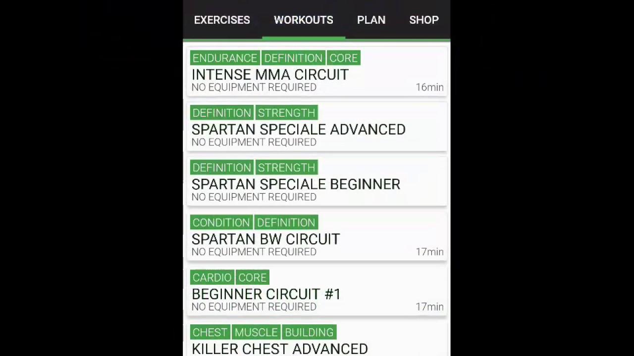 Spartan Pro Home workout App