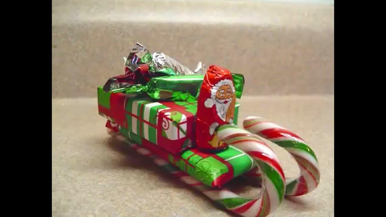 santas sleigh craft - Christmas Candy Sleigh