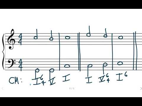 Music Theory: Part-Writing Review (Root Position, 1st and 2nd Inversion)