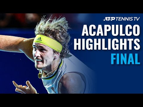 Zverev and Tsitsipas Battle for the Title | Acapulco Final Highlights