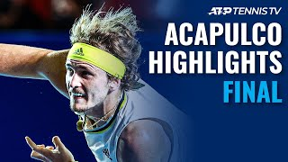 Zverev and Tsitsipas Battle for the Title | Acapulco 2021 Final Highlights