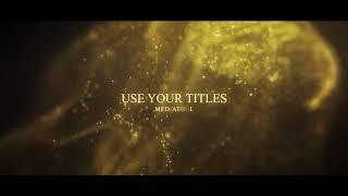타이포 광고 #056 (어워드,파티클,금,골드시상식…