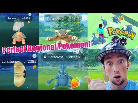MAX LVL 35 PERFECT - REGIONAL POKEMON HUNTING in Pokemon Go!