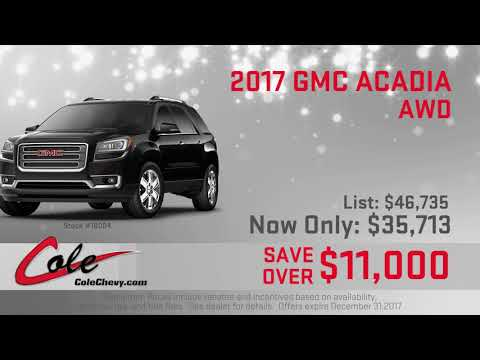 The 2017 GMC Acadia at Cole Chevy