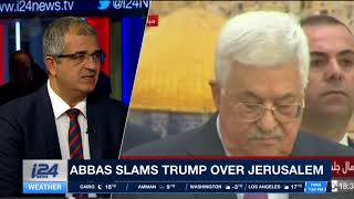 Does Abbas have support from the Arab world on Trump and Jerusalem?