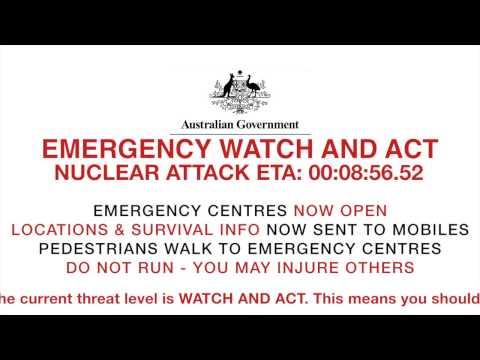 Incoming Nuclear Attack - National Emergency Warning Australia (Fake)