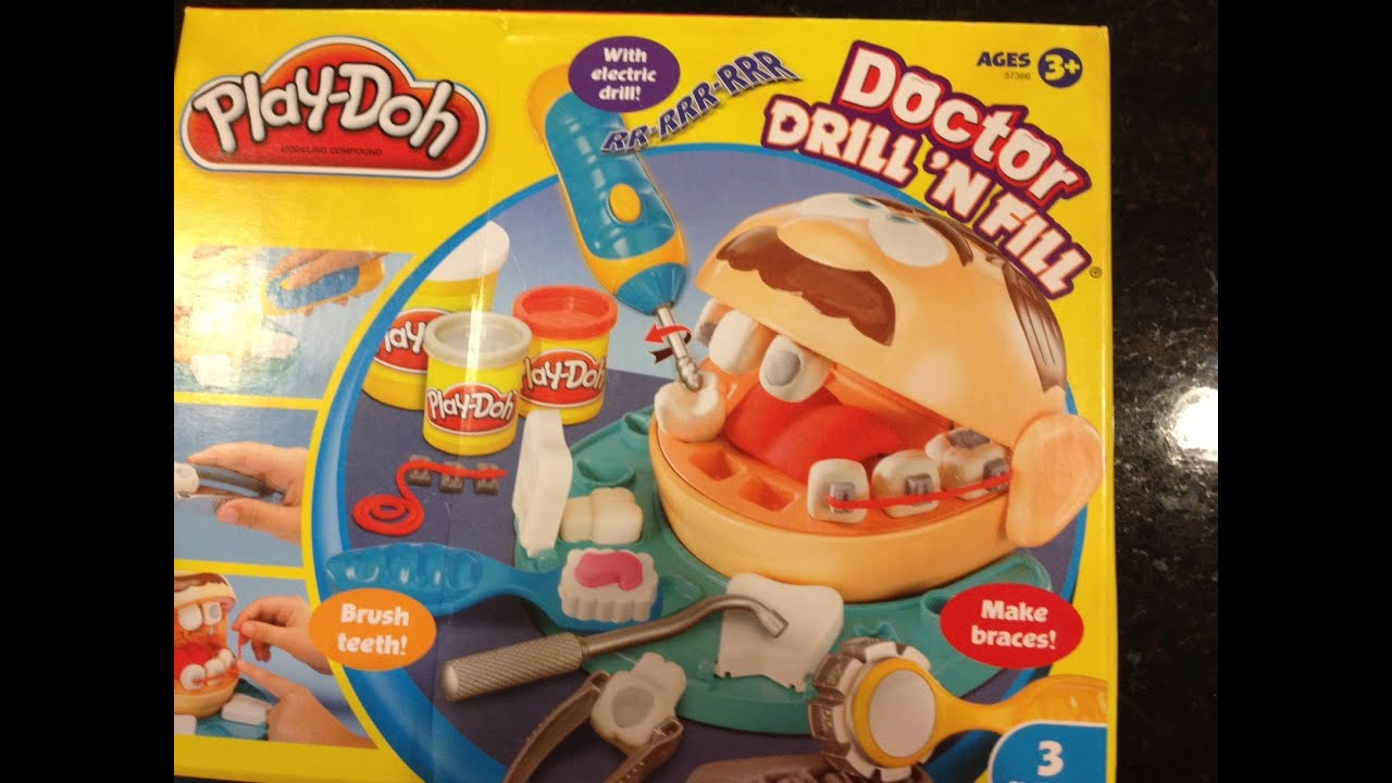 play doh tutorial doctor drill n fill playset how to make. Black Bedroom Furniture Sets. Home Design Ideas