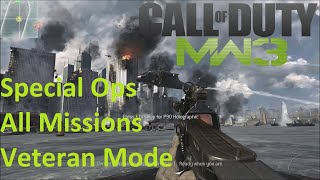 Call of Duty: Modern Warfare 3 - All Special Ops Missions Complete on Veteran (Gameplay/Walkthrough)