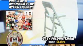 Grey Folding Chair For Action Figures