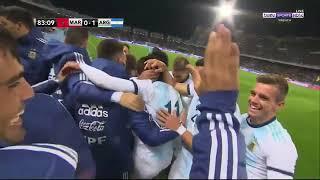 هدف الأرجنتين في المغرب   يلاكورة