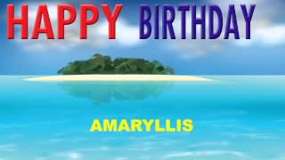 Amaryllis  Card Tarjeta - Happy Birthday
