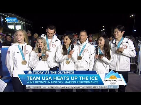 US Figure Skating Team Today Show Olympic Interview | LIVE 2-12-18
