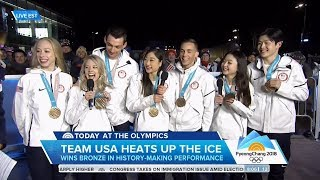 US Figure Skating Team Today Show Olympic Interview   LIVE 2-12-18