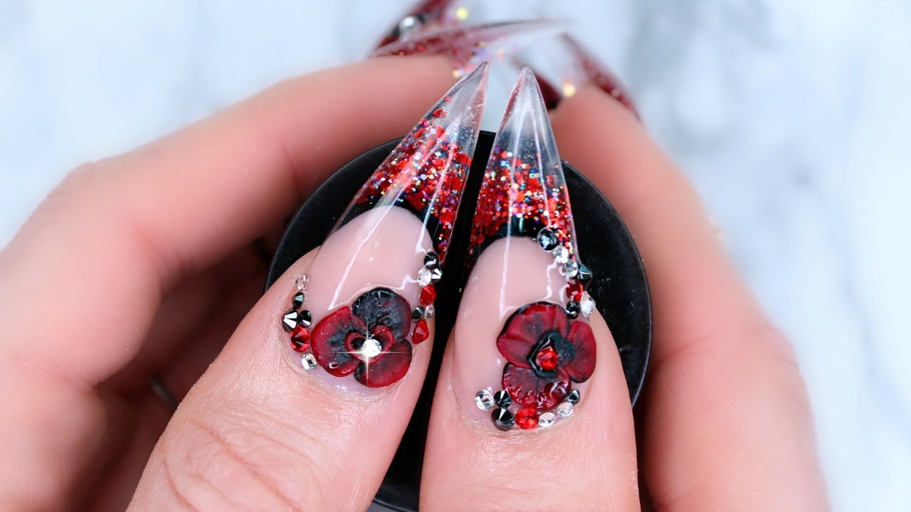 Valentines day stiletto nails on myself youtube valentines day stiletto nails on myself solutioingenieria Image collections
