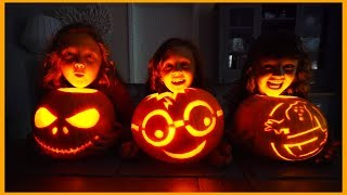 Halloween FUN and Pumpkin Carving with Fun Family Three!