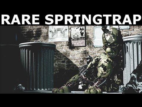 FNAF 6 - Secret Rare Springtrap Animatronic Game Over Scene (Freddy Fazbear's Pizzeria Simulator)