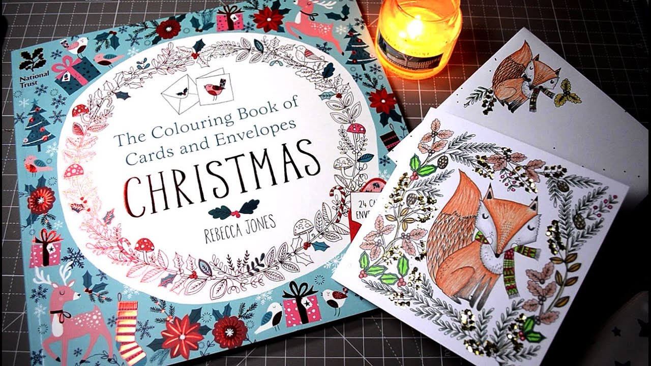 making christmas cards with the coloring book of cards and envelopes youtube