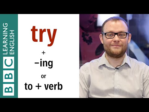 'Try + verb-ing' or 'Try to + verb'? - English In A Minute