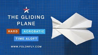 Fold 'N Fly ✈ The Gliding Paper Airplane