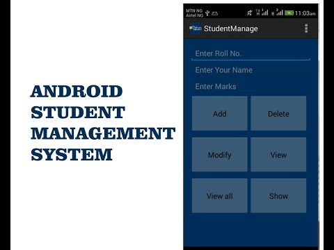 Android Student Management System Youtube