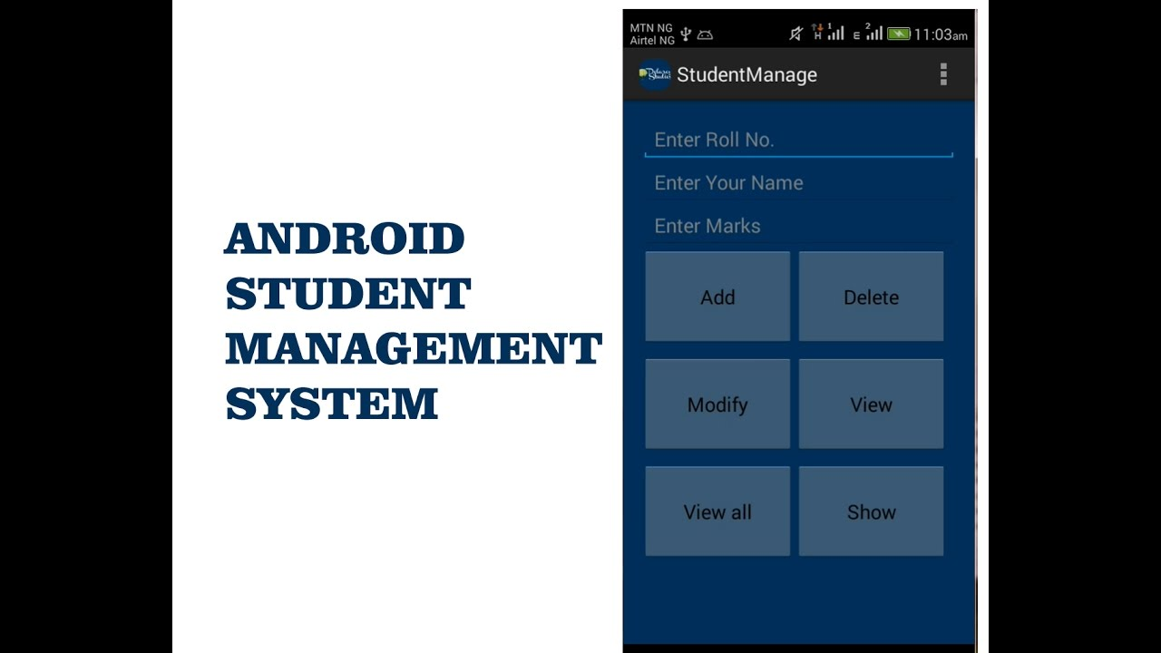 ANDROID STUDENT MANAGEMENT SYSTEM