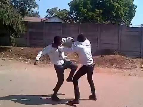High school kids Street Fight