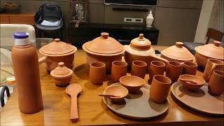 मिट्टी के बर्तनों में 100% से ज्यादा पोषक तत्व मौजूद   All Handmade clay vessels